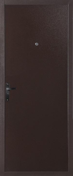 Стальная дверь модель 064 металл-металл (Медный Антик)