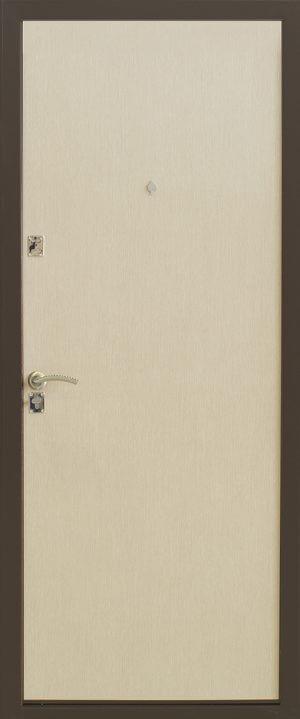 Стальная дверь класса эконом модель 130 беленый дуб