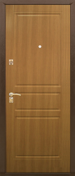 Входная металлическая дверь 131 0910 (кремовый дуб)
