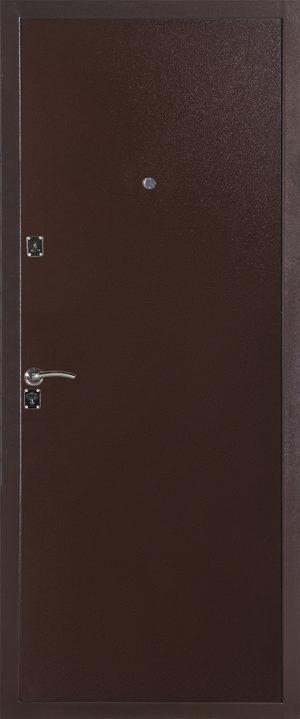 Дверь эконом класса модель 134 металл (Медный Антик)