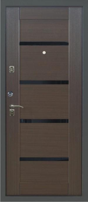 Дверь эконом-класса модель 1812 - 0447 (венге)