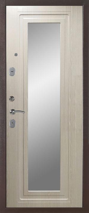 Дверь модель 5436-1652 выбеленый дуб (зеркало)