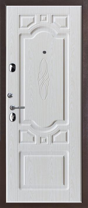 Входная металлическая дверь 613 4068 (темный дуб)
