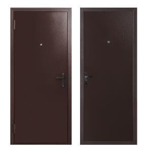 Входные двери с отделкой из металла